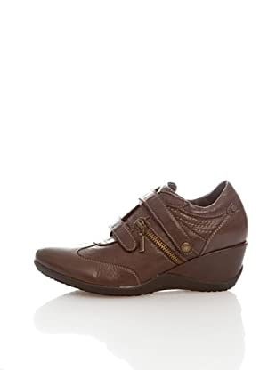 Geox Donna Etienne D1394F000CLC6009 - Zapatillas de cuero para mujer (Marrón)