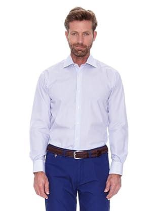 Cortefiel Camisa Raya Fina Gemelos (Azul Marino)