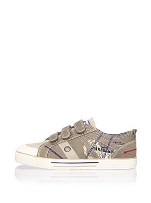 Pablosky Kid's Triple-Strap Sneaker (Beige)