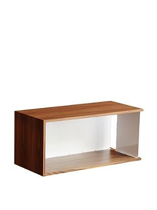 nine6 Design City Life Module Wall Cabinet, Walnut/White
