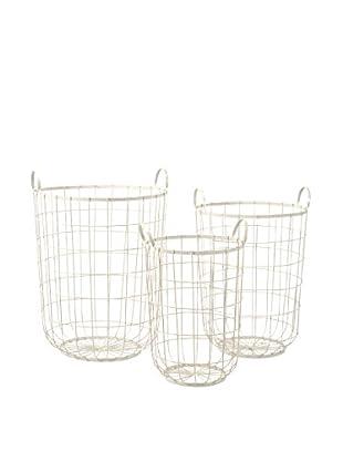 Set of 3 Dylan Wire Storage Baskets