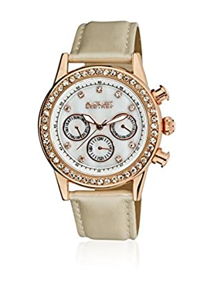 August Steiner Reloj de cuarzo Woman AS8018WT Beige 39 mm