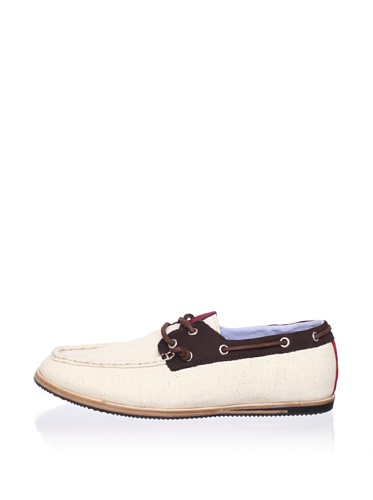 Ben Sherman Men's Adam Boat Shoe (Natural/Brown)