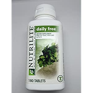 Nutrilite Daily Free Multivitamin Multimineral - Free of yeast wheat sugar alfalfa iron and vitamin K (180 Tablets)