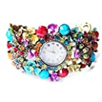 Multi Color Peacock Fashion Bangle Watch