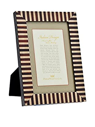 Philip Whitney 2-Tone Marquetry Frame (Brown)