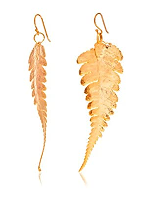 ANA Natural Leaves Ohrringe Farnblatt vergoldet