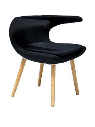 International Design USA Clipper Chair, Black