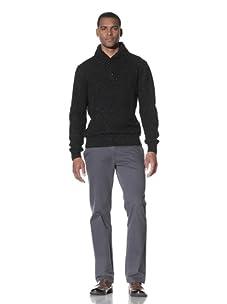 Cruciani Men's Shawl Collar Sweater (Black)