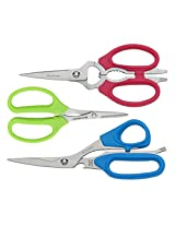 Messermeister 3-Piece Color Scissor Set