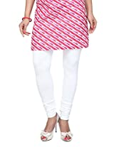 Stop Women's Knit Churidar (4595645-White-Small)