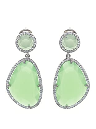 Córdoba Joyeros Pendientes Spirit Diamantado & Piedra Verde Claro