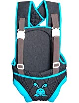 Advance Baby Charcoal Gray with Blue Border Baby Carrier (Gray/Blue)