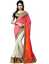 Manvaa georgette embroidered casual saree