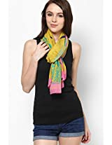 Chiffon Yellow Stole Satya Paul