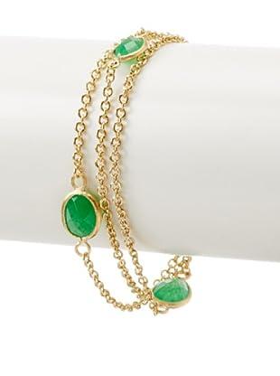 Rivka Friedman Green Quartzite Station Bracelet