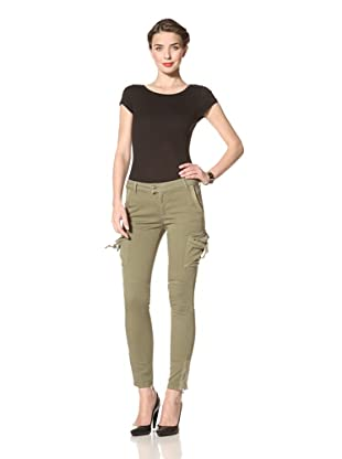 Red Valentino Women's Slim Fit Cargo Jean (Green)