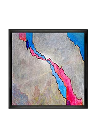 Clive Watts Crack Framed Print On Canvas, Multi, 26.5
