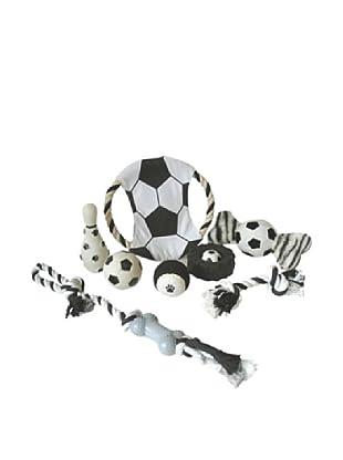 Pet Life Pet Toy Gift Set, Black/White