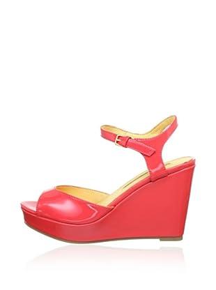 Buffalo London 312-4468 PATENT PU 143028 - Zapatos de pulsera  mujer (Rojo)