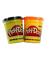 Play Doh Set Of Two Single Cans (5 Oz.) Orange And Black