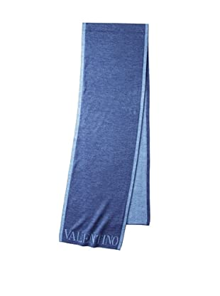 Valentino Women's Logo Knit Scarf, Blue