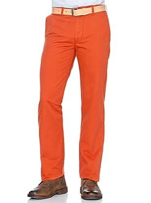 Dockers Pantalón Recto Slim Fit de Algodón (Naranja)