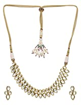 BGS Gold Plated Meena Work Kundan Necklace Set