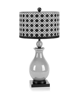 Mercana Piston Table Lamp, Grey/Black