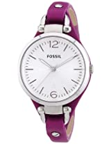 Fossil Analog White Dial Women's Watch - ES3317