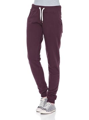 Carrera Jeans Pantalón Felpa (Berenjena)