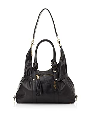 The Bumble Collection Honey Satchel (Black)