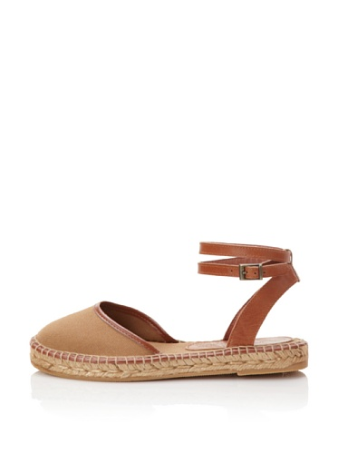 André Assous Women's Espadrille Slide with Ankle Strap (Toast)