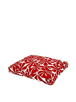 Plantation Small Rectangle Pet Bed, Red