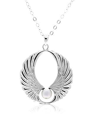 Misaki Conjunto de cadena y colgante Wings Short plata de ley 925 milésimas rodiada