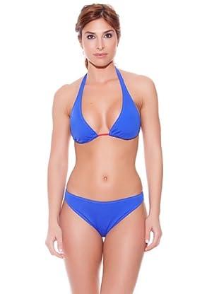 Teleno Bikini Cortina Liso Azul (Marino)