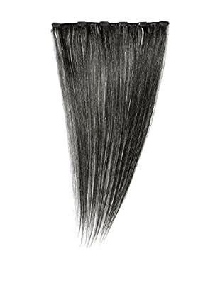Love Hair Extensions Clip-In Haarverlängerung 100% Echthaar, 1 Jet Black