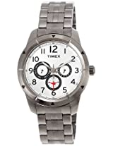 Timex E Class Analog Silver Dial Men's Watch - I600