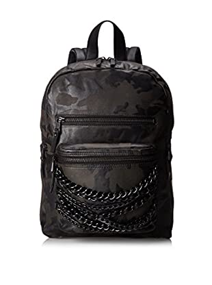 ASH Women's Camo Domino Small Backpack, Black Camo