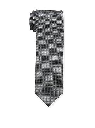 Bruno Piattelli Men's Unsolid Silk Tie, Black