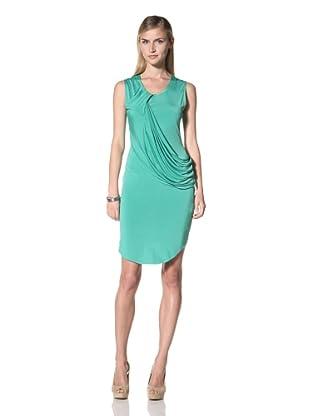 Poleci Women's Drape Jersey Dress (Jade)
