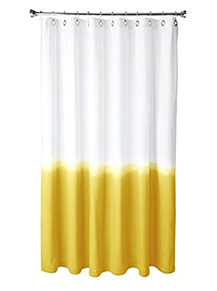 Nine Space Dip-Dye Shower Curtain, Yellow