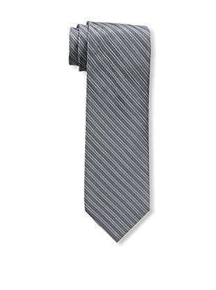 Bruno Piattelli Men's Stripe Silk Tie, Charc