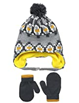 Carters Baby-Boys Patterned Peruvian Hat and Matching Mitten Set
