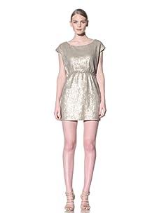 Rebecca Minkoff Women's Sequin Sophia Dress (Stone)