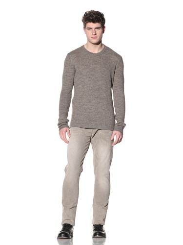 SPURR Men's Crewneck Knit Sweater (Tan)