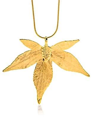ANA Natural Leaves Anhänger Japanisches Ahornblatt vergoldet