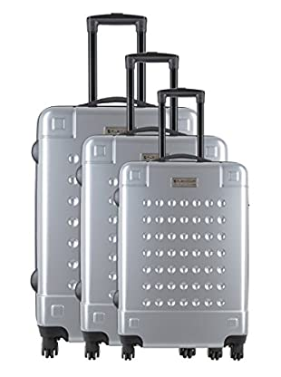 Creation Olivier Lapidus Pour Platinium Set 3 Trolley 4 Ruedas Golf (Plata)