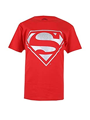 DC Comics T-Shirt Manica Corta Silver Superman