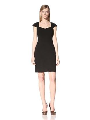 Marc New York Women's Layered Cap Sleeve Dress (Black)
